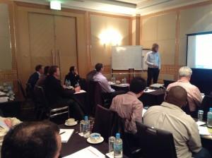 Dr Grant Ballantyne JKMRC leads discussion at Workshop