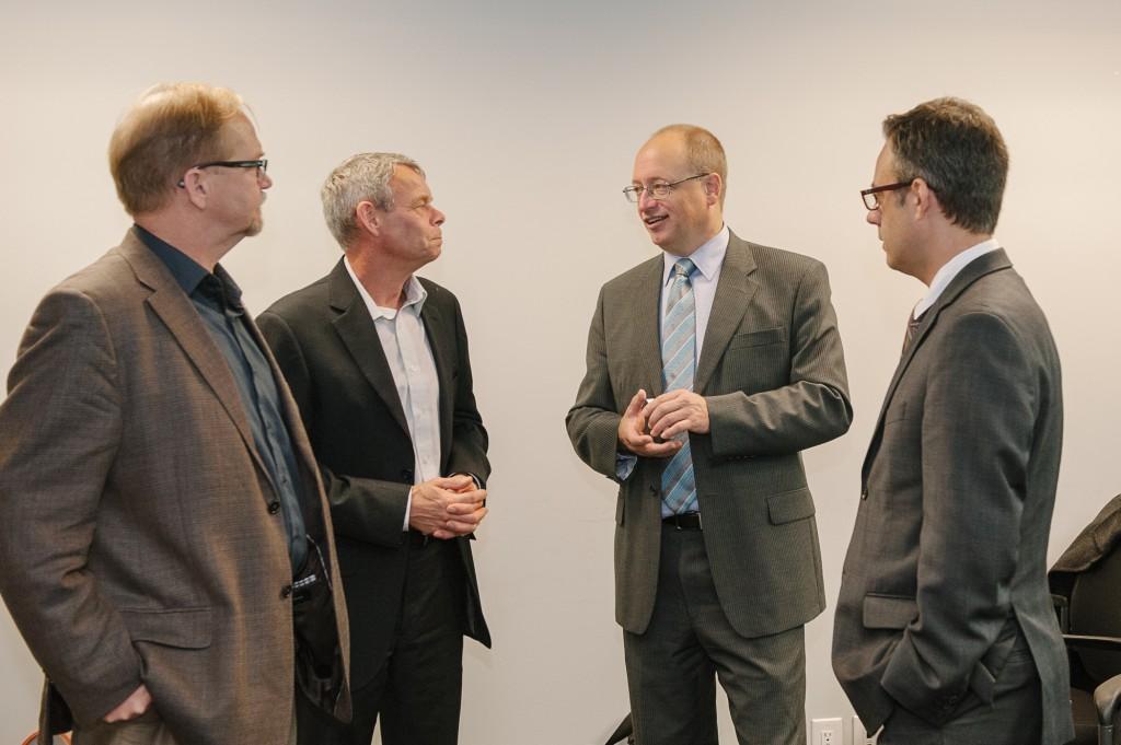 Loren Gudbjartsson, Mike Brandon, The Honorable Dave Nikolejsin and Jorge Marques BC Hydro