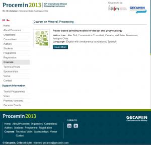 Procemin 2013 Short Courses