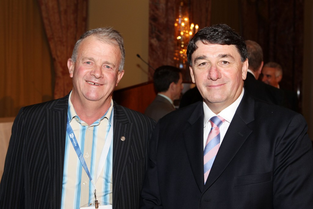 Comminution nominee Sandy Gray-Gekko Systems Technical Director with John McGagh-Rio Tinto  Head of Innovation