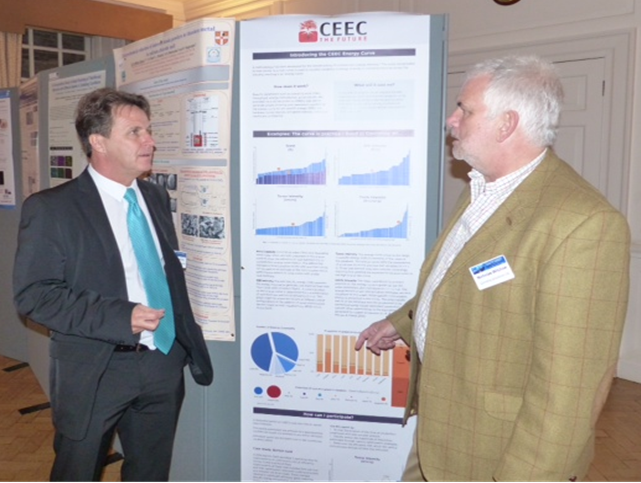 Dave Meadows (Bechtel) and Nick Wilshaw ( Grinding Solutions) discuss the CEEC enegry curve poster