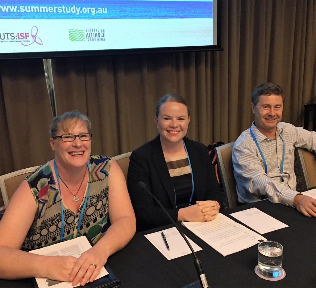 Dr Mary Stewart, Philippa Sjoquist and Joe Pease, presenters at Summer Study 2016