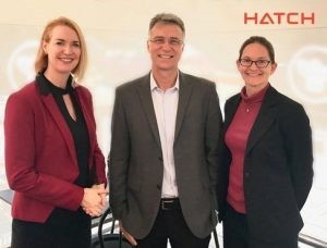 Alison Keogh with Walter Valery and Kristy Duffy of Hatch.