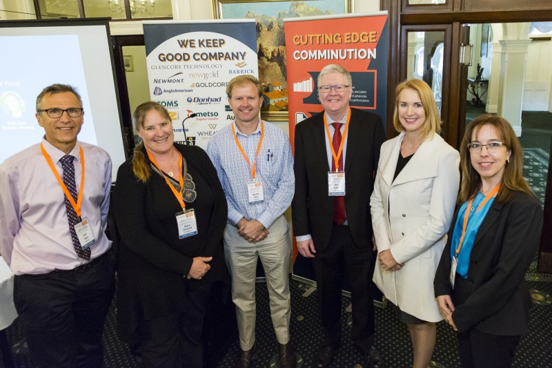 Keynote speakers at CEEC's Brisbane workshop, Dr Ben Adair, Dr Mary Stewart, Dirk Baas and Professor Neville Plint are pictured with CEEC CEO Alison Keogh.