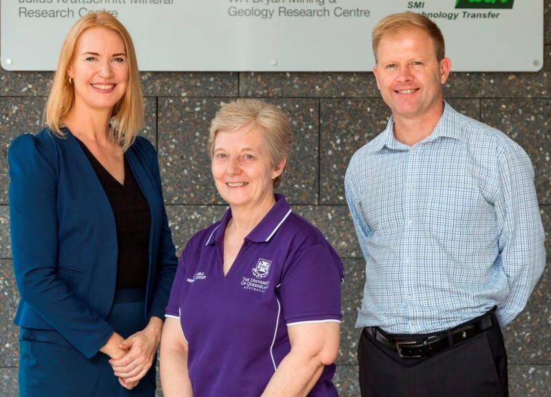 CEEC CEO Alison Keogh and SMI Director Professor Neville Plint welcome JKMRC Senior Research Fellow Dr Cathy Evans as the new leader of the energy curves team.